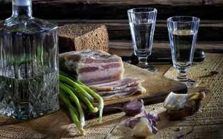 Чем лучше закусывать самогон и как его правильно пить