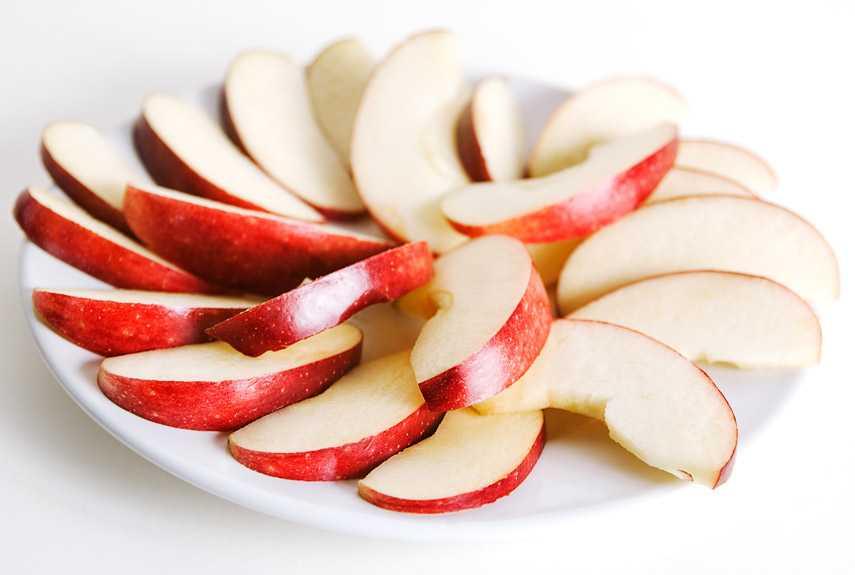 нарезка из яблок